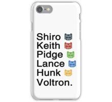 Team Voltron & iPhone Case/Skin