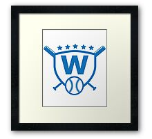 Fly The W Raise The Flag Cubs Playoffs Championship Framed Print