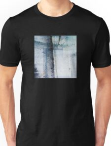 Modern Graphic Ink Design Abstract in Blue and Grey Spray Unisex T-Shirt