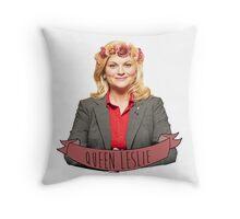 Leslie Knope - Queen Leslie Throw Pillow