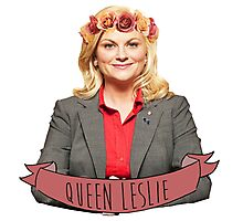 Leslie Knope - Queen Leslie Photographic Print