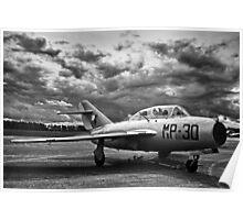 MiG-15 UTI (Black&White) Poster