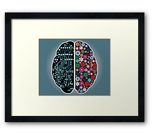 Left and right brain Framed Print