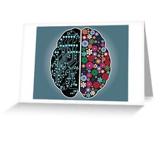 Left and right brain Greeting Card