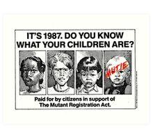 Mutant Advert Art Print