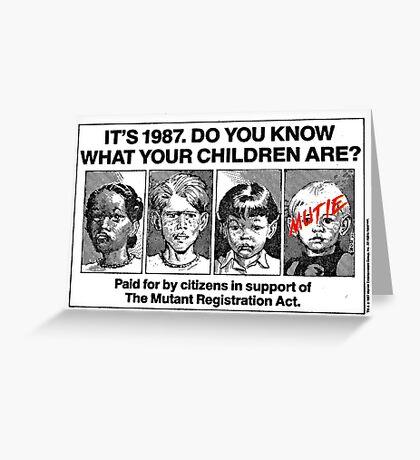 Mutant Advert Greeting Card