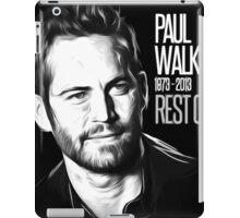 In Memoriam Paul Walker iPad Case/Skin