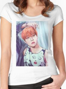 J-Hope   Wings Women's Fitted Scoop T-Shirt