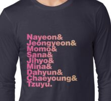 TWICE in Helvetica Long Sleeve T-Shirt