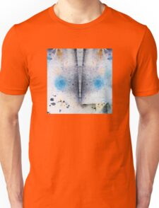 Abstract Unique Graphic ink design in blue and gold Unisex T-Shirt
