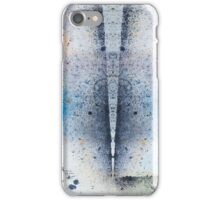 Abstract Unique Graphic ink design in blue and gold iPhone Case/Skin