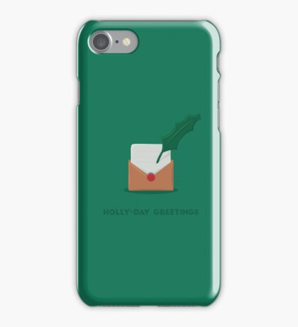 Christmas - Holly-day Greetings iPhone Case/Skin