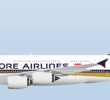 Wings In Uniform - A380 - Singapore Airlines Sticker
