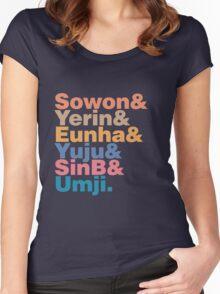 GFRIEND in Helvetica Women's Fitted Scoop T-Shirt
