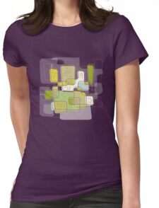 Retro Cityscape Womens Fitted T-Shirt