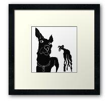 two dawgs ... a fisheye view Framed Print