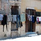 Washday on the Plaza by Marylou Badeaux