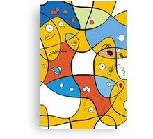 Mixed Up - The Simpsons Canvas Print