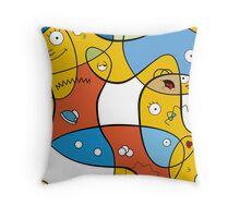 Mixed Up - The Simpsons Throw Pillow