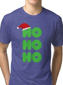 Ho Ho Ho Christmas Tri-blend T-Shirt