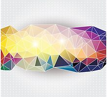 Abstract geometric colorful background, pattern design elements by BlueLela
