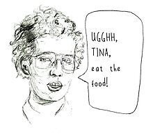 Tina eat the food! Photographic Print
