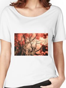 The Reaching - Tree Abstract of Life and Sky Women's Relaxed Fit T-Shirt