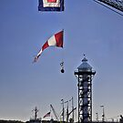 Flags Over Dobbin's Landing by Kathy Weaver