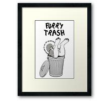 Furry Trash - Gray Husky/Malamute Framed Print