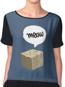 Warren Graham - Meow Box Chiffon Top