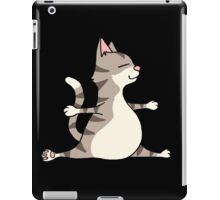 Funny Cat Yoga Yogis Positions Hatha Vinyasa Gift T-Shirt iPad Case/Skin