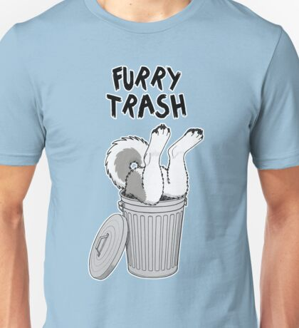 Furry Trash - Gray Husky/Malamute Unisex T-Shirt