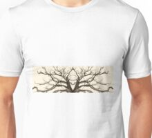 Tree Abstract in Brown Unisex T-Shirt