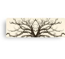 Tree Abstract in Brown Canvas Print