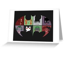 Bat Villains Greeting Card