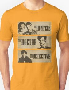 The Hunters, The Doctor and The Detective (Matt Smith version)  T-Shirt