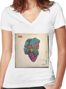Love, Forever Changes, Psych, Psychedelic Rock lp Women's Fitted V-Neck T-Shirt