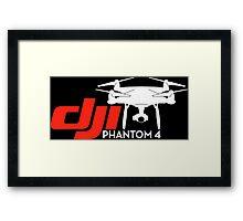 DJI Phantom 4 New Drone White Framed Print