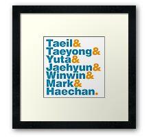 NCT 127 in Helvetica Framed Print
