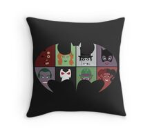 Bat Villains Throw Pillow