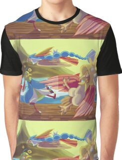 Flying-type Fish Festival Graphic T-Shirt