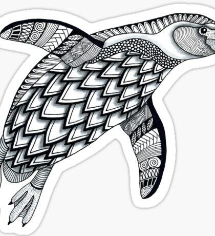 Black & White Penguin Sticker