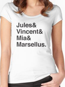 Jules & Vincent & Mia & Marsellus Women's Fitted Scoop T-Shirt
