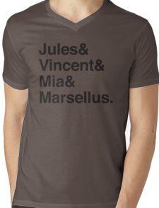 Jules & Vincent & Mia & Marsellus Mens V-Neck T-Shirt
