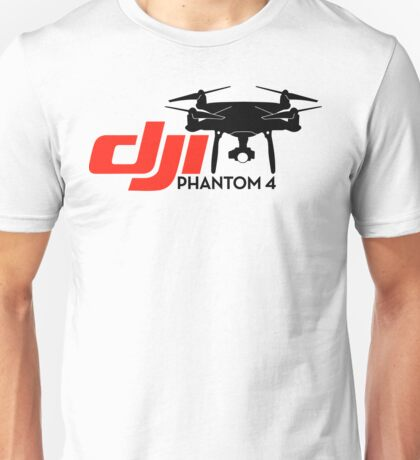 DJI Phantom 4 New Drone black Unisex T-Shirt