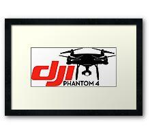 DJI Phantom 4 New Drone black Framed Print
