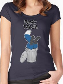 Furry Trash - Blue Fox Women's Fitted Scoop T-Shirt