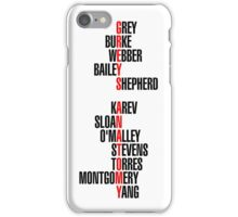 greys anatomy iPhone Case/Skin