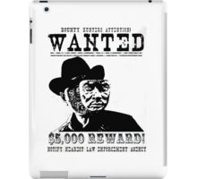 Westworld Wanted iPad Case/Skin