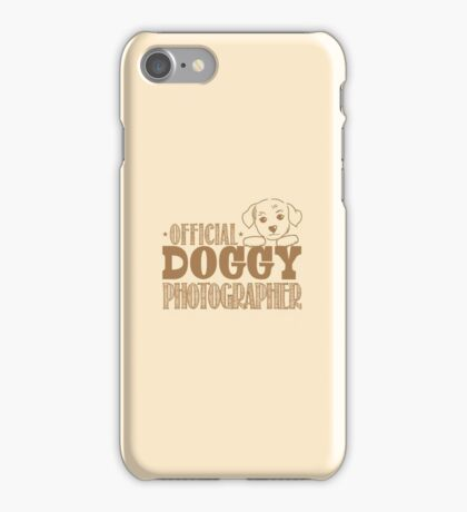 Official doggy photographer iPhone Case/Skin